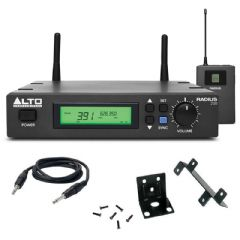 Alto Radius 200M 8Ch UHF Wireless Instrument or Guitar Beltpack Kit + Leads